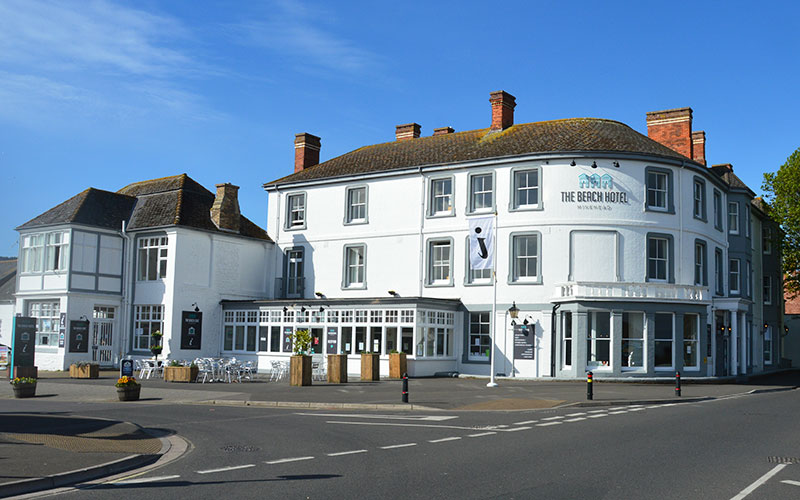The Beach Hotel and Minehead Museum building